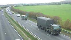 Convoy on road